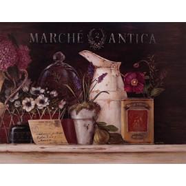 Carte d'art maison shabby chic anémones et lila Angela Staehling