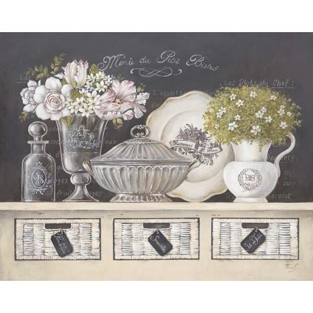 Carte d'art fleurs Stefania Ferri