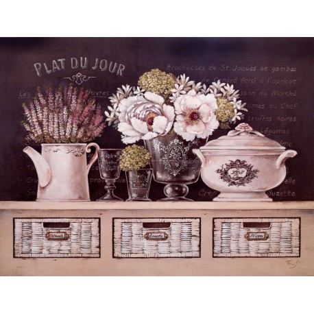 encadrement carte d 39 art maison shabby chic fleurs stefania ferri. Black Bedroom Furniture Sets. Home Design Ideas