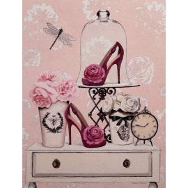 Carte d'art maison shabby chic chaussures Marco Fabiano
