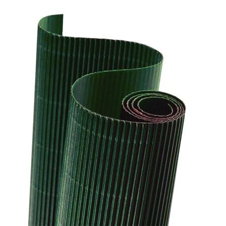 Papier carton ondulé couleur vert foncé