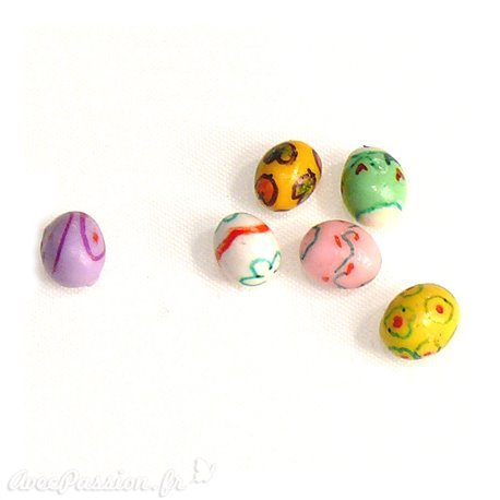Miniature vitrine oeufs pâques 0.5x0.5cm qu6