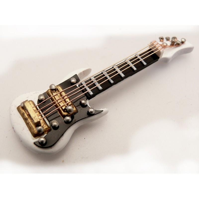 miniature vitrine objet miniature guitare lectrique blanche et coffret. Black Bedroom Furniture Sets. Home Design Ideas