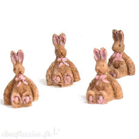 Miniature vitrine petits lapins 1x1.5cm qu4