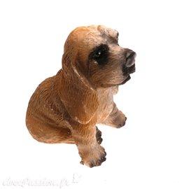 Miniature vitrine chien 3x3.5cm