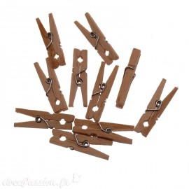 Embellissements Pinces à linge bois 2.5x0.5cm qu10