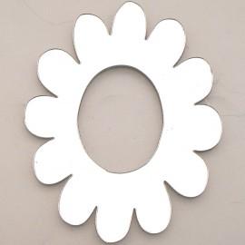 Miroir adhésif home déco fleur trou moyen