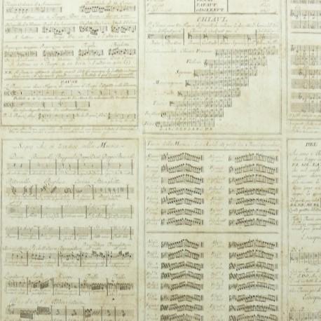 Papier fantaisie musique antique