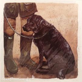 Carte postale chien labrador