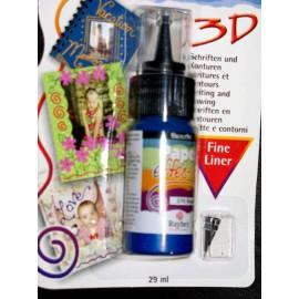 Peinture Paper Effects écriture 3D bleu roy
