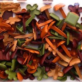Attaches parisiennes kaki rouille orange marron italia