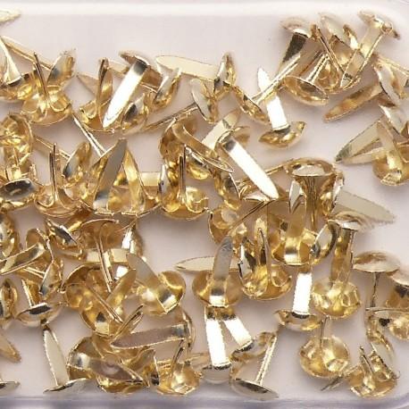Attaches parisiennes doré 4mm