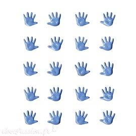 Attaches parisiennes naissance mains bleu layette 1.1cm