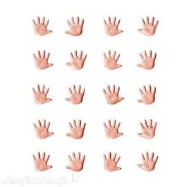 Attaches parisiennes naissance mains rose layette 1.1cm