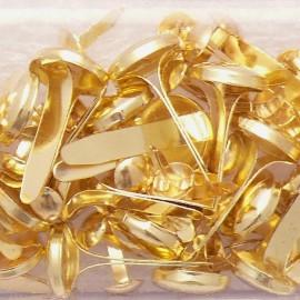 Attaches parisiennes ronde doré 4 -8mm