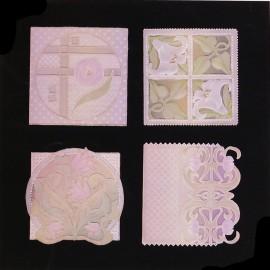 Patrons Adèle Miller modèle Pergamano Art Nouveau cartes pattern