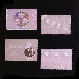 Patrons Adèle Miller modèle Pergamano 3D fleuris cartes pattern