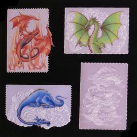 Patrons Adèle Miller modèle Pergamano dragons mythiques pattern
