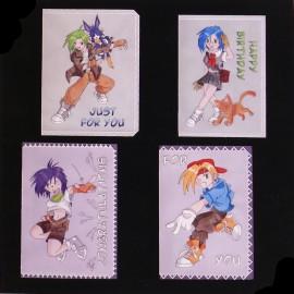 Patrons Adèle Miller modèle Pergamano Manga cartes pattern