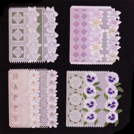 Patrons Adèle Miller modèle Pergamano Half Fold cartes pattern