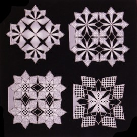 Patrons Adèle Miller modèle Pergamano Diamond Varations pattern