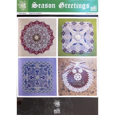 Patrons Miki Green modèle Pergamano Noël saisons de voeux pattern 1