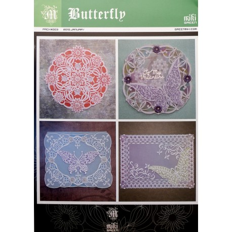 Patrons Miki Green modèle Pergamano papillons pattern 3