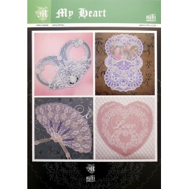 Patrons Miki Green modèle Pergamano mon coeur pattern 5