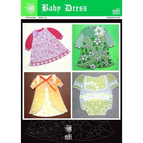 Patrons Miki Green modèle Pergamano robes de bébé pattern 8