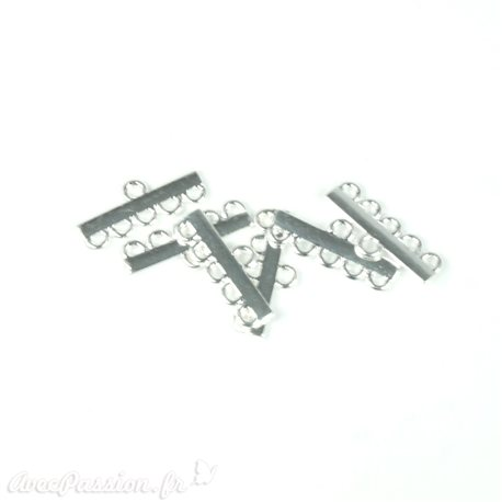 Apprêt Barrette finition collier 5 rang argent