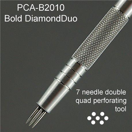 PCA outil perforation diamant double 7 pointes épaisses