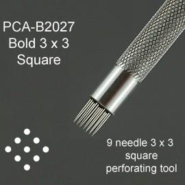 PCA outil perforation carré 3x3 - 9 pointes épaisses