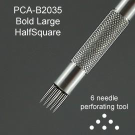 PCA outil perforation demi carré grand 6 pointes épaisses