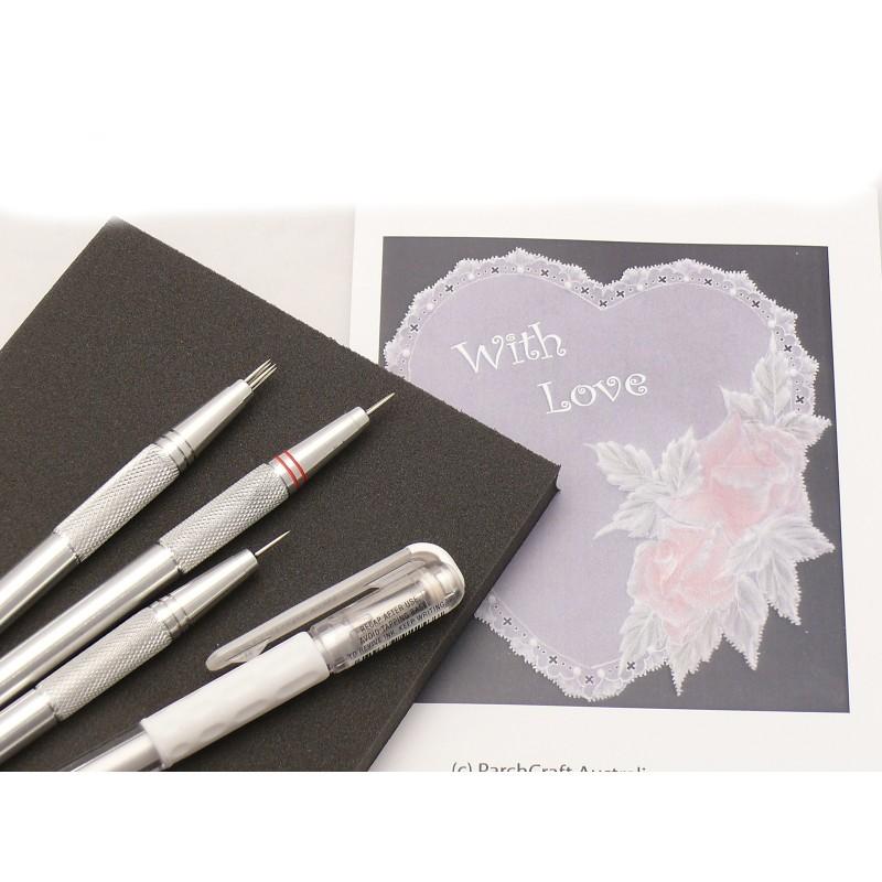 kit 3 outils de perforation pais tapis feutre papier pca mat riel parchemin. Black Bedroom Furniture Sets. Home Design Ideas