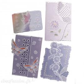Patrons dentelle de papier PCA Pauline Loweth papillons et fleurs