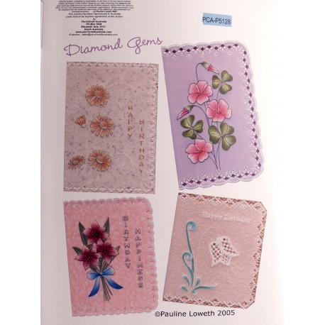 Patrons dentelle de papier PCA Pauline Loweth diamond gems