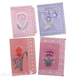 Patrons dentelle de papier PCA Pauline Loweth fantasy flora