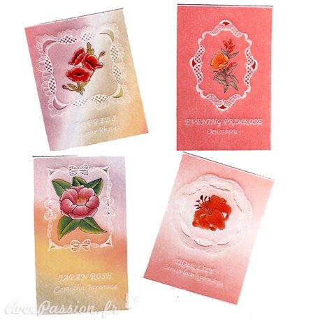 Patrons dentelle de papier PCA Pauline Loweth language of flowers