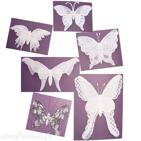 Patrons dentelle de papier PCA Pauline Loweth A papillons