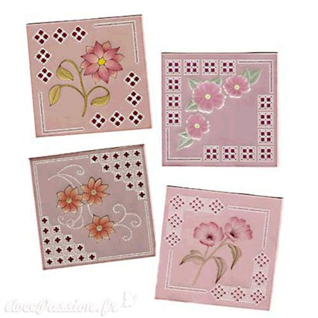 Patrons dentelle de papier PCA Pauline Loweth A Framework of Flowers