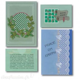 Patrons dentelle de papier PCA Aileen Childs Noël christmas motif 2