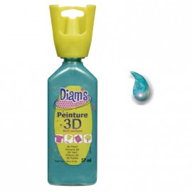 Peinture 3D multi surfaces Diams Bleu Tropical Nacré