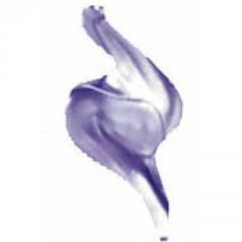 Peinture 3D pour tissu Tulip métallique violet 65406
