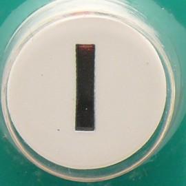 Perforatrice alphabet lettre majuscule I 6x8mm