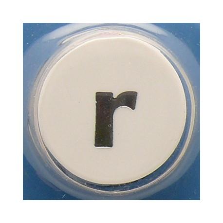 Perforatrice alphabet lettre minuscule r 5mm