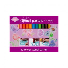 Pergamano craies pour pochoirs pastels 21461
