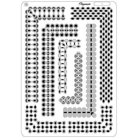 Pergamano grille embossage piquage 12 bordures 31422