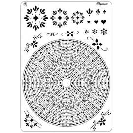 Pergamano multi grille embossage piquage 13 cercles 31423
