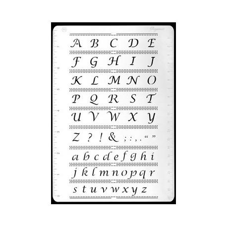 Pergamano grille embossage piquage 16 alphabet 31426