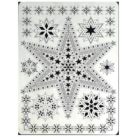 Pergamano grille embossage piquage 21 étoile 31431